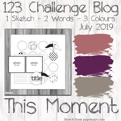 123 Challenge July 2019 Inspiration Board