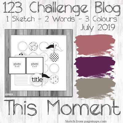 123 Challenge July 2019 Inspiration Board